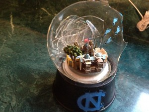 busted snow globe