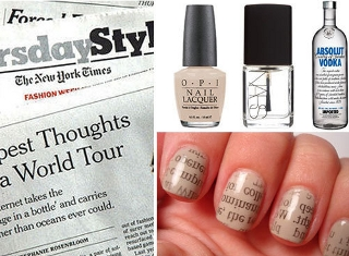 Newspaper nail art pintester image prinsesfo Choice Image