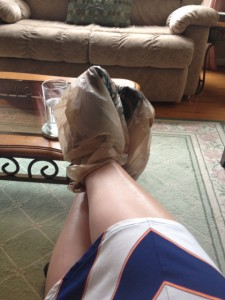 foot mask solution plastic bags
