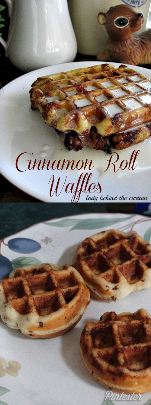 Also, these cinnamon roll waffles are totally a success. Delicious ...