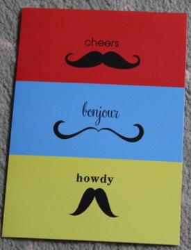 moustache card