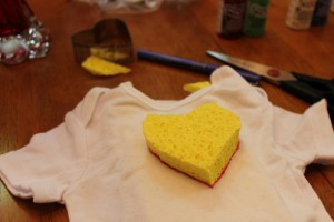 sponge on onesie