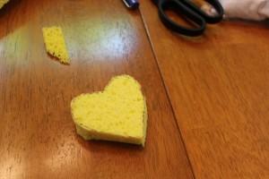 wonky heart sponge