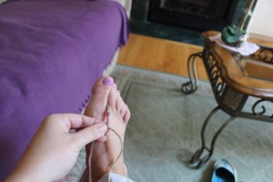 "This one is called ""toe braid."" Welcome to my blog, toe hair fettishists."