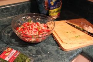 making cilantro