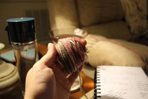 wrapped yarn