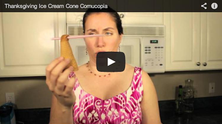 Thanksgiving Ice Cream Cornucopia