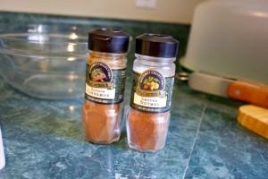 cinnamon and nutmeg