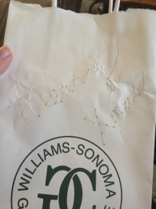 old wrinkled bag