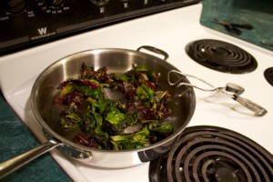 sauteed gross greens