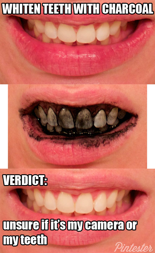 Whiten Teeth with Charcoal
