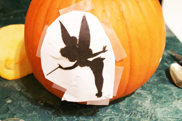 tinkerbell pumpkin pattern