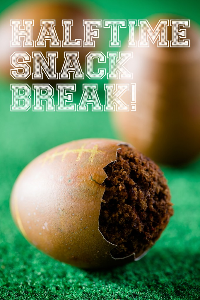 Football cupcakes in real egg shells! What? Image from Cupcakeproject.com