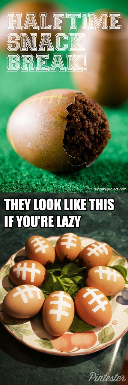 They're supposed to look like footballs, but hey. You do what you gotta do.