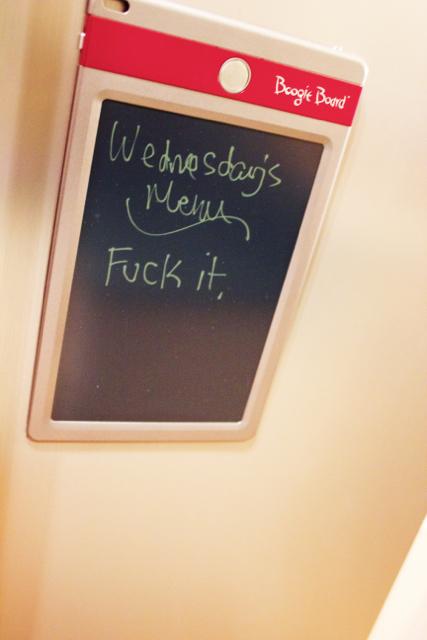wednesday's menu