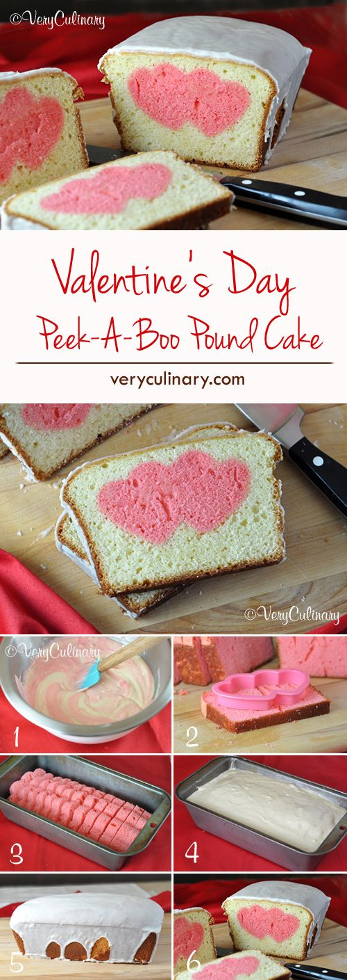Picture of pound cake with hearts in it