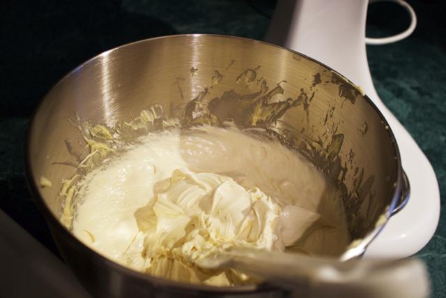 white cake batter
