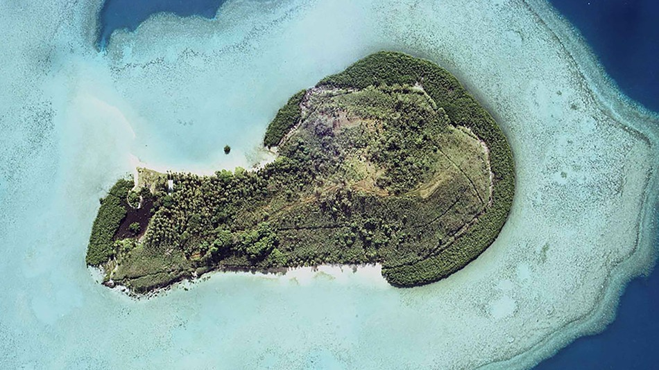 Yes. It's an island. Shaped like a penis. Image via Mashable