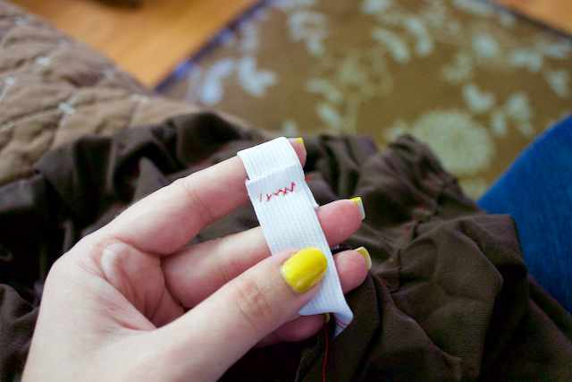 equally terrible sewing job on elastic wasitband