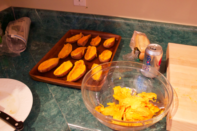 picture of scooped-out sweet potatoes