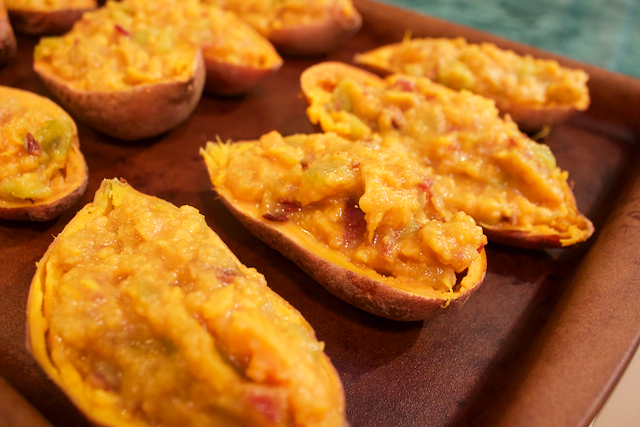 stuffed potatoes that look really grody